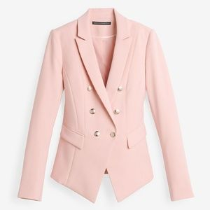trophy pink double breasted blazer jacket